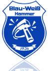 Vereinslogo Blau - Weiß Hammer