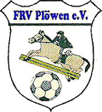Altes Vereinslogo des FRV Plöwen mit Reiter und Fußball